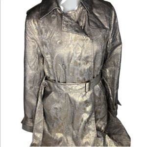 NWT Calvin Klein size small gold shimmery jacket